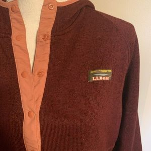 L. L. Bean Sweater Fleece Pullover Hoodie